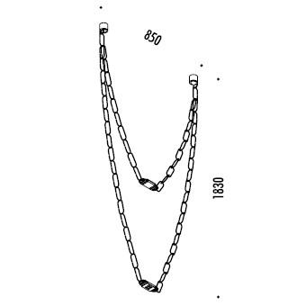ChainDelier 2-2_ 85 x H 183 cm