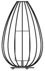 Ø 36 x H. 58 cm