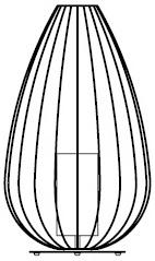 Ø 55 x H. 88 cm