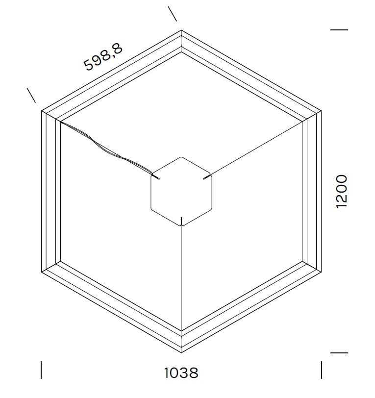 Exagon 9712_ 103.8 x 120 x H 6.1 cm
