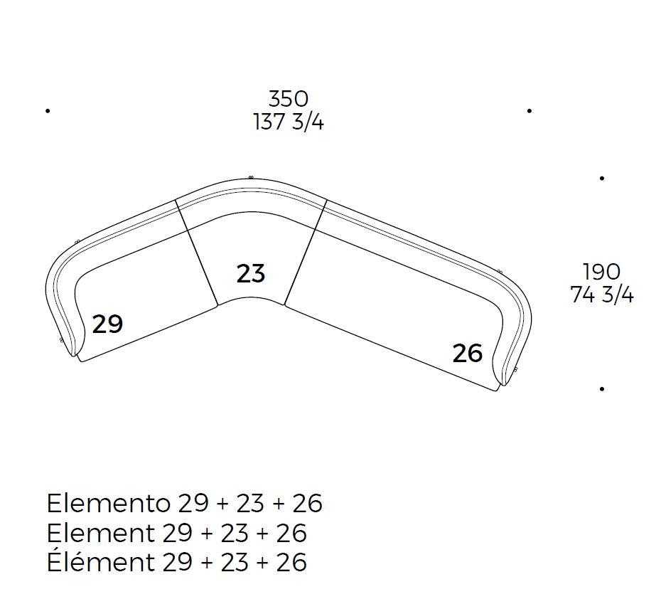 Caillou_350 cm (29+23+26)