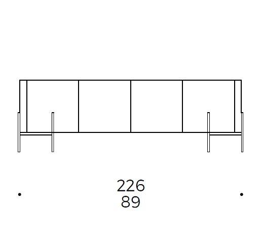226x48xH73 cm