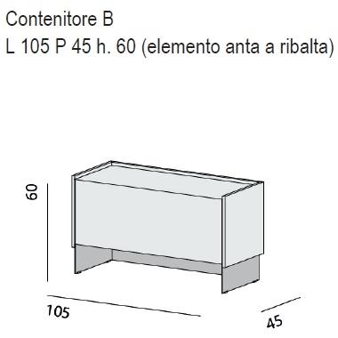 Contenitore B_ 105 x 45 x H 60 cm