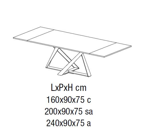 20.40 Millennium (160-200-240 x 90 x 75 cm)