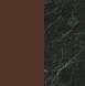 Tinto noce/Marmo Verde Alpi