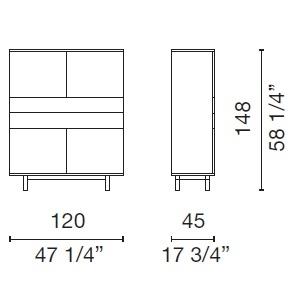 Easy_ 120 x 45 x H 148 cm (EAS1)