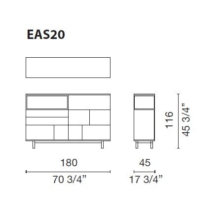 Easy_ 180 x 45 x H 116 cm (EAS20)
