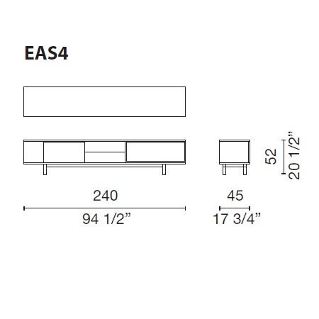 Easy_ 240 x 45 x H 52 cm (EAS4)