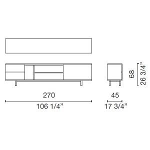 Easy_ 270 x 45 x H 52 cm (EAS5)