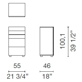 Swift_ 55 x 46 x H 100,1 cm (SWF3)