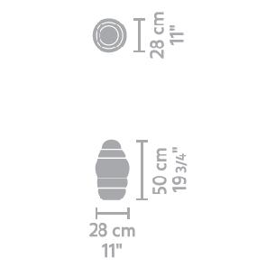 Alto Light Small_ 28 x H 50 cm