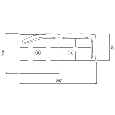 Matic_ 297 x 107/150 x H 62 cm (MA09)
