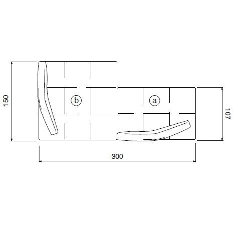 Matic_ 300 x 107/150 x H 62 cm (MA11)