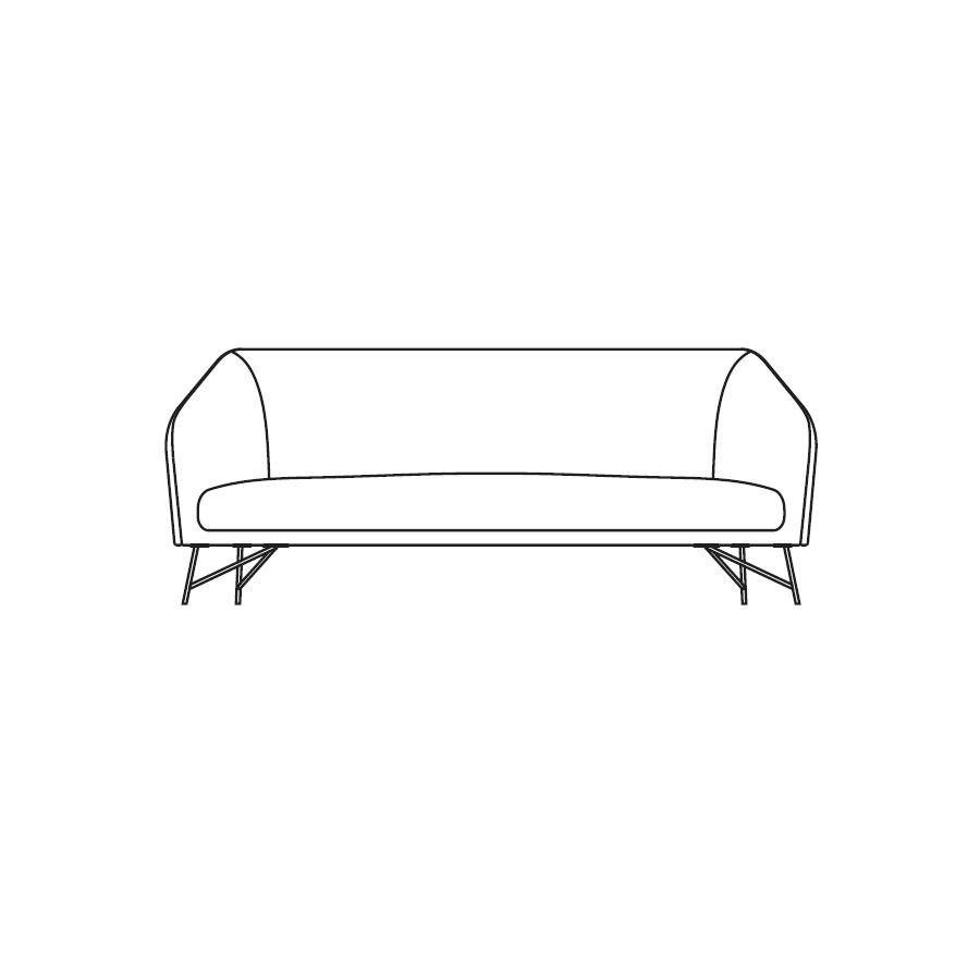 Twiggy (220 x 93 x H 78 cm)