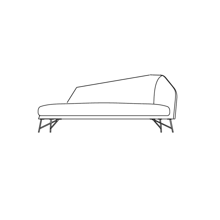 Twiggy (183 x 93 x H 78 cm - Right)