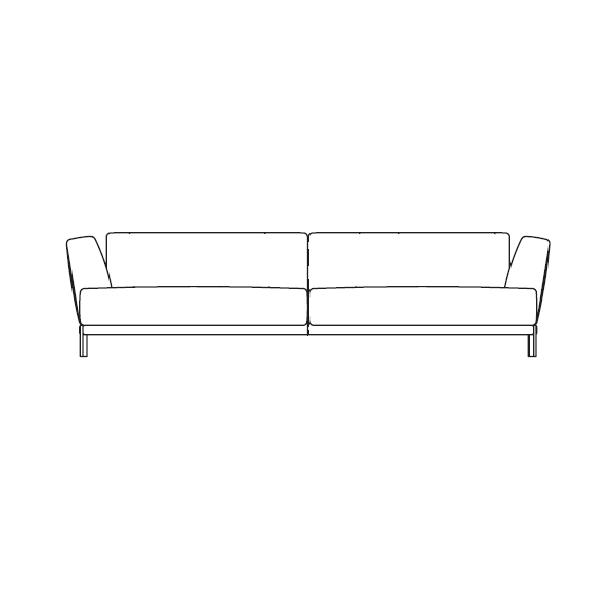 Larsen 240 (240 x 100 x H 72 cm)