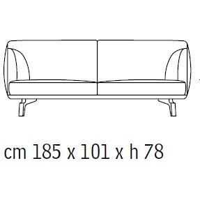 Drive_ 59000: 185 x 101 x H 78 cm