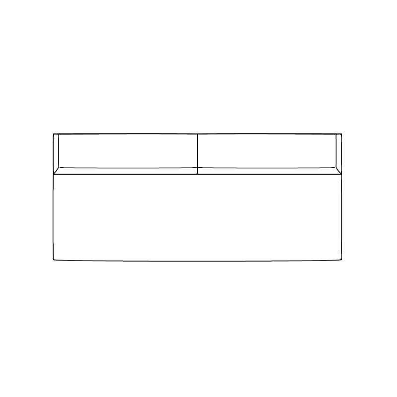Sumo_ 220 x 96 x H 31/60 cm_ sin apoyabrazos