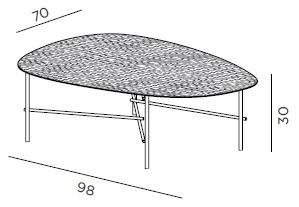 Syro XL 98_ 98 x 70 x H 30 cm