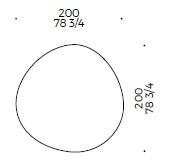 Caillou_ 200 x 200 cm (irregular)