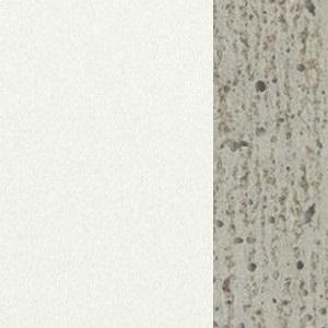 Bois blanc mat / ciment naturel
