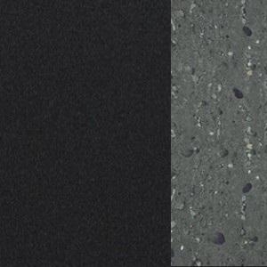 Bois graphite gris mat / ciment anthracite