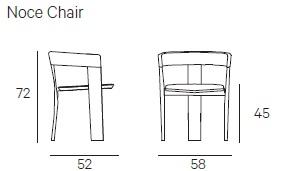 Noce Chair_ 58 x 52 x H 72 cm