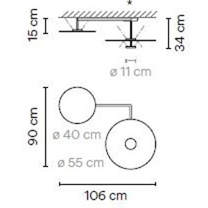 5910 - Ø40/Ø55 cm - h: 34/15 cm
