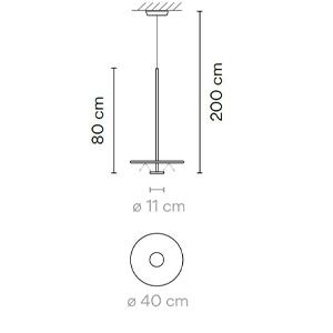 5935 - Ø40/H:200 cm