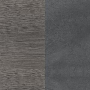 Sumpfeiche - Dunkelgrauer Zement