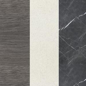 Sumpfeiche - Weißer Zement - Graphitgrauer Marmor