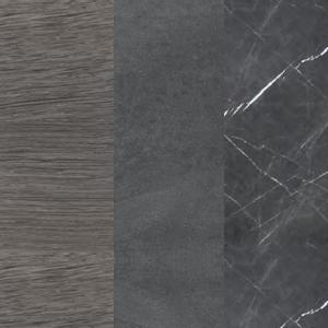 Sumpfeiche - Dunkelgrauer Zement - Graphitgrauer Marmor