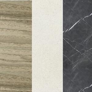 Sumpfasche - Weißer Zement - Graphitgrauer Marmor
