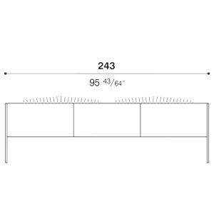 Steel_243 x 64 x H 72 cm