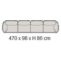 Grande Soffice C_ 470 x 98 x H 86 cm