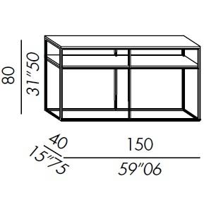 Console 150/2_ 150 x 40 x H 80 cm