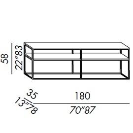 Console 180/2_ 180 x 35 x H 58 cm
