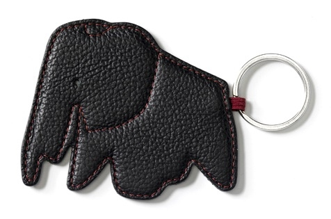 Key Ring Elephant_ Nero