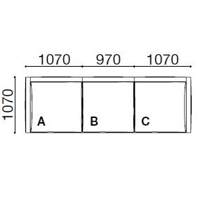 BS001_ 311 x 107 x H 60 cm