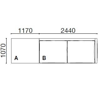 BS002_ 361 x 107 x H 60 cm
