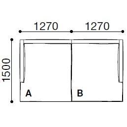 BS005_ 254 x 150 x H 60 cm