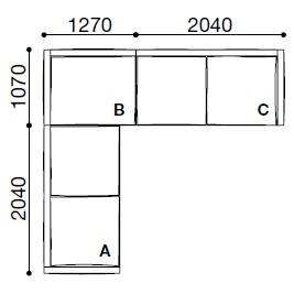 BS011_ 331 x 311 x H 60 cm