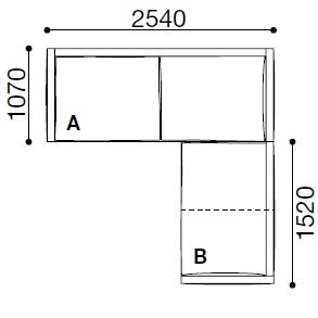BS040_ 254 x 259 x H 60 cm