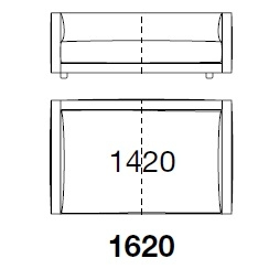 BSDI162_ 162 x 107 x H 60 cm