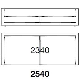 BSDI254_ 254 x 107 x H 60 cm