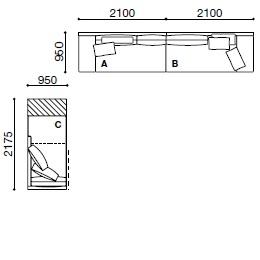 MO011_ 420 x 95 cm + 95 x 217.5 cm