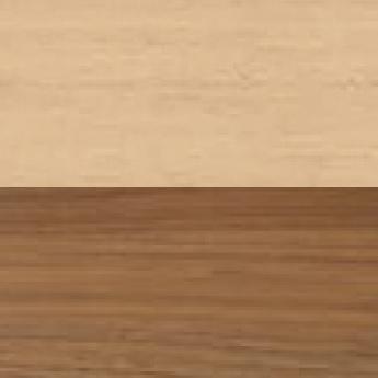 Acero sbiancato e parte inferiore in noce Canaletto Rigatino