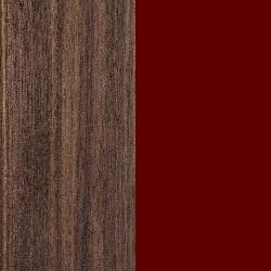 Noce Canaletto / Alluminio verniciato amaranto