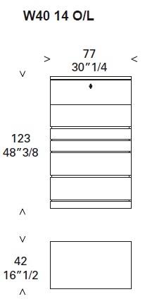 Deco_ W40 14_ 77 x 42 x H 123 cm (Avec rabat)