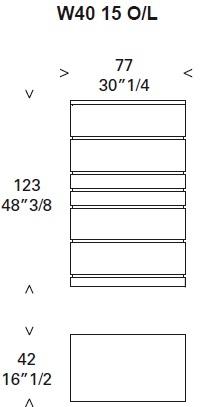 Deco_ W40 15_ 77 x 42 x H 123 cm